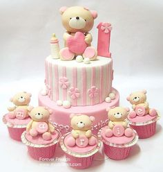 Girl Teddy Bear cakes