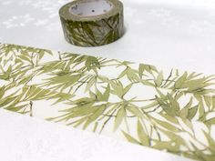 Bamboo Stalks washi tape 7M green scene natural by TapesKingdom