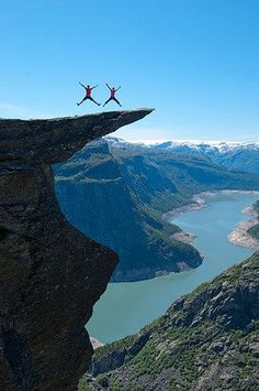 Trolltunga, Hardanger region in Norway. Photo by Stig Tronvold. Some believe this is a photoshop version - it is not!