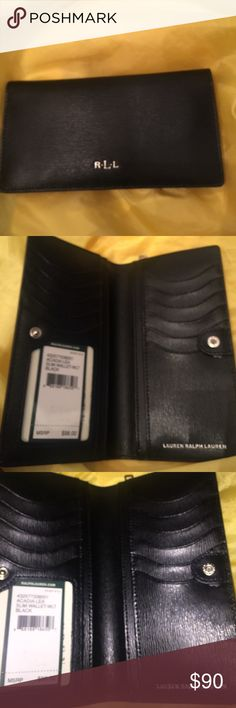 Lauren Ralph Lauren Wallet!! Black Lauren Ralph Lauren wallet!! So cute!! Lauren Ralph Lauren Bags Wallets
