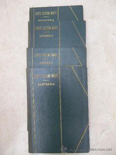 4 libros Corte Sistema Martí 1944: modisteria, lencería, corsés y sastreria