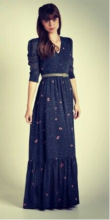 This is such a prairie woman dress, but also I love it, even if it is dark blue.