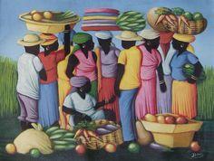 J. Jonas Acrylic on canvas - Haitian art