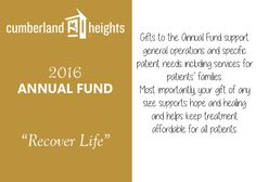 To donate to the Cumberland Heights Annual Fund click here:
