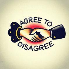 Flash tattoo - agree to disagree