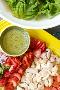 Beat the Heat with Strawberry Watermelon Chicken Salad - @Sandy   Reluctant Entertainer