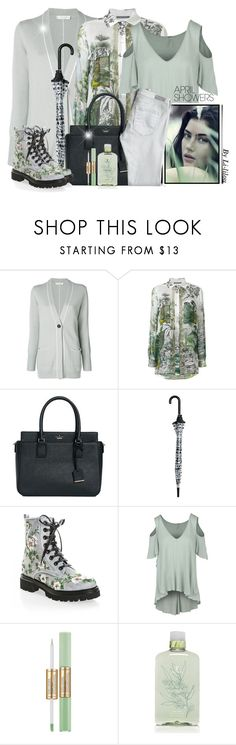 """""""~April Showers ~"""" by li-lilou ❤ liked on Polyvore featuring Le Tricot Perugia, Alberta Ferretti, Kate Spade, H&M, Free People, Estée Lauder, Thymes, AG Adriano Goldschmied and rainydayoutfit"""