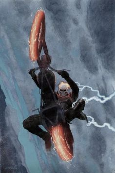 alexhchung:  Ghost Rider #1 variant by Esad Ribic