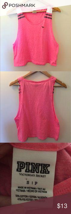 Pink by Victoria's Secret crop top Pink crop top good condition PINK Tops Crop Tops