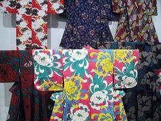 """Part of a kimono exhibit """"Fashioning Kimono"""" at the Philadelphia Museum of Art"""