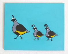 Mother Quail and Babies by DesignsfromErin on Etsy, $25.00