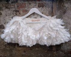 Feather shrug. £95.00, via Etsy.