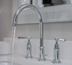 Axor Montreux Widespread Faucet with Lever Handles in Chrome from Hansgrohe