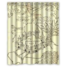 """High Quality bath shower curtain waterproof polyester fabric Harry Potter The Marauder's Map 66"""" x 72"""" 60"""" x 72"""" -in Shower Curtains from Home & Garden on Aliexpress.com 