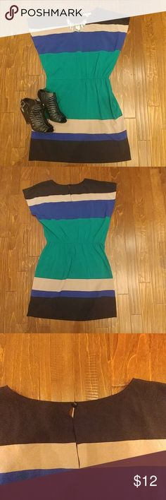 Plus dress Cute summer dress. Bold stripes. Drop waist 97% polyester 3% spandex shelby & palmer Dresses Midi