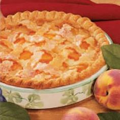 Peaches 'N' Cream Pie - my family looks forward to peach season every year and for me to make this pie! It's my signature dessert!