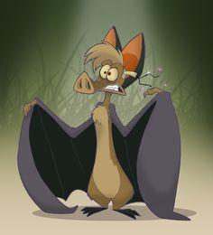 He raps like an animal, but he& a mammal. A little bit of Batty fan-art fun from Ferngully. Cartoon Bat, Cartoon Tattoos, Cartoon Characters, 90s Cartoons, Disney Cartoons, Animal Doodles, Disney Animation, Spirit Animal, Rock Art