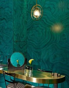 malachite wall