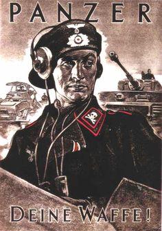 A Panzer Propaganda poster.