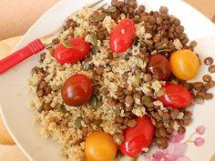 Φακές με κινόα και ντοματίνια - http://www.zannetcooks.com/recipe/fakeskinoantomatinia/