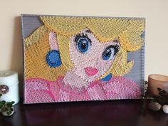String Art - Princess Peach - Super Mario Brothers - Wii - Nintendo