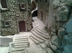 Escaliers et ruelle pour la crèche (avec rochers)