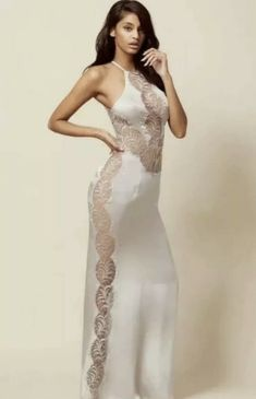 Agent Provocateur Rare Sold Out Romy Dress Bnwt All Sizes Available S-xl Types Of Dresses, Size 14 Dresses, Dresses Uk, Long Slip Dress, White Long Sleeve Dress, Agent Provocateur, White Maxi Dresses, Gray Dress