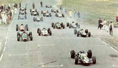 Watkins Glen Grand Prix History | Cars at the start line of the 1964 United States Grand Prix at Watkins Glen...