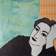 Woman Linocut limited edition original £150.00