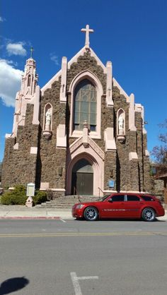 Beautiful Old Church In Downtown Historic District Off Route 66 Flagstaff Arizona