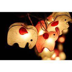 20 X Handmade White and Strawberry Pink Cute Elephant Zoo Animal Plant... ($16) ❤ liked on Polyvore featuring home, home decor, brown, home & living, lanterns, lighting, handmade home decor, white home accessories, country style home decor and white lantern