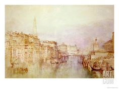 The Grand Canal Looking Towards the Dogana Giclee Print by William Turner at Art.com - Love this Print!