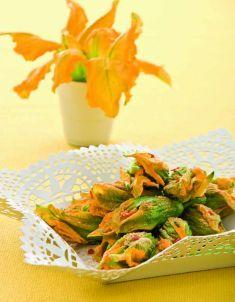Fiori di zucca farciti con crema di bietole e peperoncino - Tutte le ricette dalla A alla Z - Cucina Naturale - Ricette, Menu, Diete
