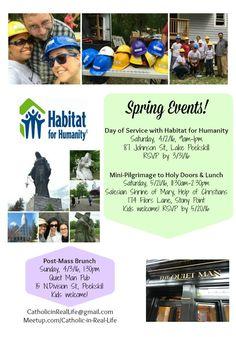 Catholic in Real Life's Spring Events! www.facebook.com/groups/CatholicinRealLife -Faith, Christian, Service, Pilgrimage, Inspiration, Volunteering, Prayer