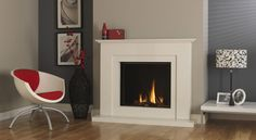 DRU Global 70XT CF conventional flue gas fire with Cara surround