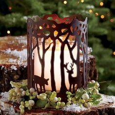 Woodland Light Candle Sleeve only  $10 on cyber weekend sale - Don't miss it! www.partylite.biz/marybacon