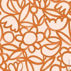 flower pile via Illustration Inspiration, Pattern Illustration, Surface Pattern Design, Pattern Art, Textile Patterns, Print Patterns, Textile Prints, Textiles, Plant Drawing