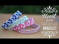 DIY-TUTO : BRACELET BRESILIEN COEUR - Heart friendship bracelets (englis...