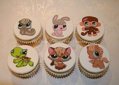 Littlest Pet Shop Cupcakes - Hand Painted