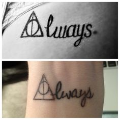 Harry potter deathly hallows tattoo. Always Ashley!!!!!! Lets do this!!!! It's combines both of my tattoo needs! @AshleyMonteleone