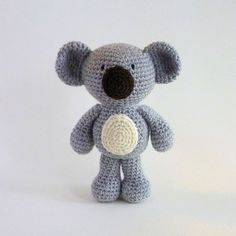 Amigurumi Koala Plush Koala Australian Animal Toy by MWHandicrafts