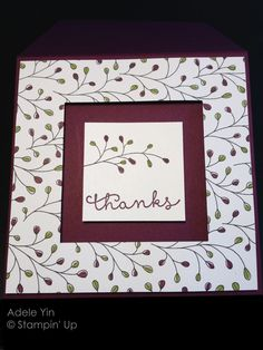 Adele Yin: WILDFLOWER FIELDS DSP, Stampin' Up Flowering Fields stamp, Cottage Greetings Stamp, Thanks