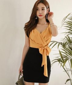 Pin by shubham on korean actress in 2019 Xl Fashion, Japan Fashion, Look Fashion, Fashion Beauty, Womens Fashion, Fashion Design, Office Fashion, Korean Fashion Dress, Korean Outfits