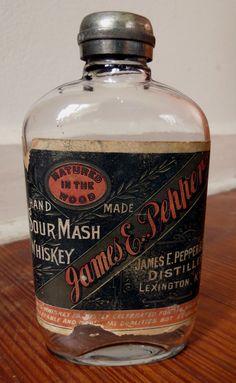 James E Pepper Whiskey Bottle Late 19th century, Lexington Kentucky
