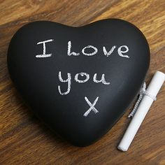 This is a cool idea! Instead of buying this like at the website, you can get like a smooth rock or something heart shaped to act as a paperweight and paint it with chalkboard paint! This way you can leave messages while holding down your papers! I have a website for making your own chalkboard paint btw...