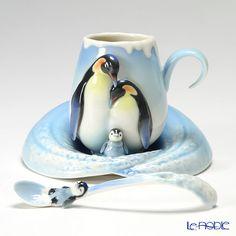 フランツ・コレクション ペンギンカップ&ソーサー スプーン付 FZ02118
