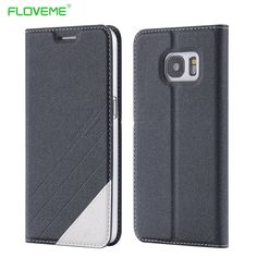 FLOVEME S7 / S7 Edge Elegant Original Leather Case For Samsung Galaxy S 7 Edge Flip Wallet With Card Slot Stand Cellphone Cover