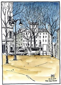 Place Croix-Rousse, Lyon - France   by bruno molliere
