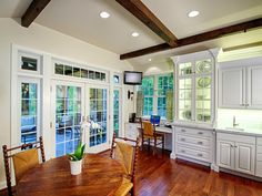 HGTV.com has inspirational pictures, ideas and expert tips on wood kitchen table designs from modern to traditional.