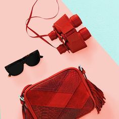 cartera M A R C E L A cherry gafas L E N N Y   #leather #bags #shoes #sunglasses #desing #handmade #fashion #red shop online - www.luboloque.com
